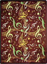 "Virtuoso© Classroom Rug, 3'10"" x 5'4"" Rectangle Burgundy"
