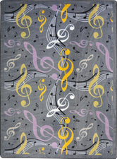 "Virtuoso© Classroom Rug, 5'4"" x 7'8"" Rectangle Gray"