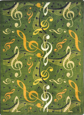 "Virtuoso© Classroom Rug, 3'10"" x 5'4"" Rectangle Green"
