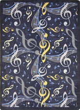 "Virtuoso© Classroom Rug, 5'4"" x 7'8"" Rectangle Navy"