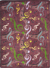 "Virtuoso© Classroom Rug, 5'4"" x 7'8"" Rectangle Plum"