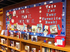 Vote For Your Favorite Book! - Election Themed Library Bulletin Board