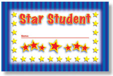 Star Student  Punch Cards