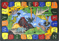 "We Dig Dinosaurs© Classroom Circle Time Rug, 7'8"" x 10'9"" Rectangle"