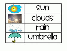Word Wall, Literacy Center and Science Experiment FREEbies - All About Weather!