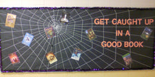 Get Caught Up In A Good Book! - Halloween Reading Bulletin Board