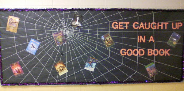 Get Caught Up In A Good Book Halloween Reading Bulletin