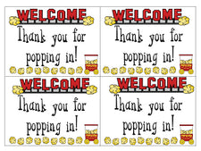 """Thank You for Popping In"" Welcome FREEbie"