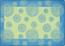 "Whimzi© Classroom Rug, 3'10"" x 5'4"" Rectangle Teal"