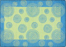 "Whimzi© Classroom Rug, 5'4"" x 7'8"" Rectangle Teal"