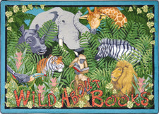 "Wild About Books© Classroom Rug, 7'7"" x 7'7"" Square"