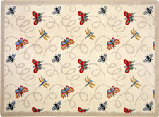 "Wing Dings© Classroom Rug, 3'10"" x 5'4"" Rectangle Beige"