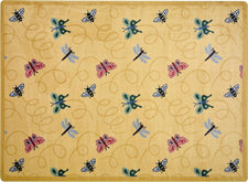 "Wing Dings© Classroom Rug, 3'10"" x 5'4"" Rectangle Gold"