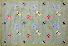 "Wing Dings© Classroom Rug, 7'8"" x 10'9"" Rectangle Green"