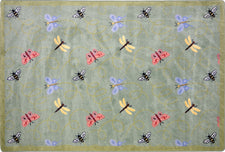 "Wing Dings© Classroom Rug, 3'10"" x 5'4"" Rectangle Green"