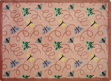 "Wing Dings© Classroom Rug, 5'4"" x 7'8"" Rectangle Rose"