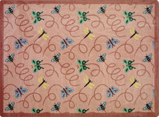 "Wing Dings© Classroom Rug, 3'10"" x 5'4"" Rectangle Rose"