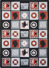 "Wired© Classroom Rug, 3'10"" x 5'4"" Rectangle Red"