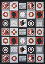 "Wired© Classroom Rug, 5'4"" x 7'8"" Rectangle Red"