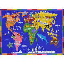 "World of Wonders™ Classroom Rug, 5'4"" x 7'8"" Rectangle"