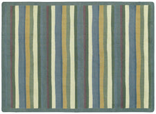 "Yipes Stripes© Classroom Rug, 5'4""  Round Soft"