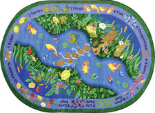 "You Can Find© Classroom Rug, 5'4"" x 7'8""  Oval"