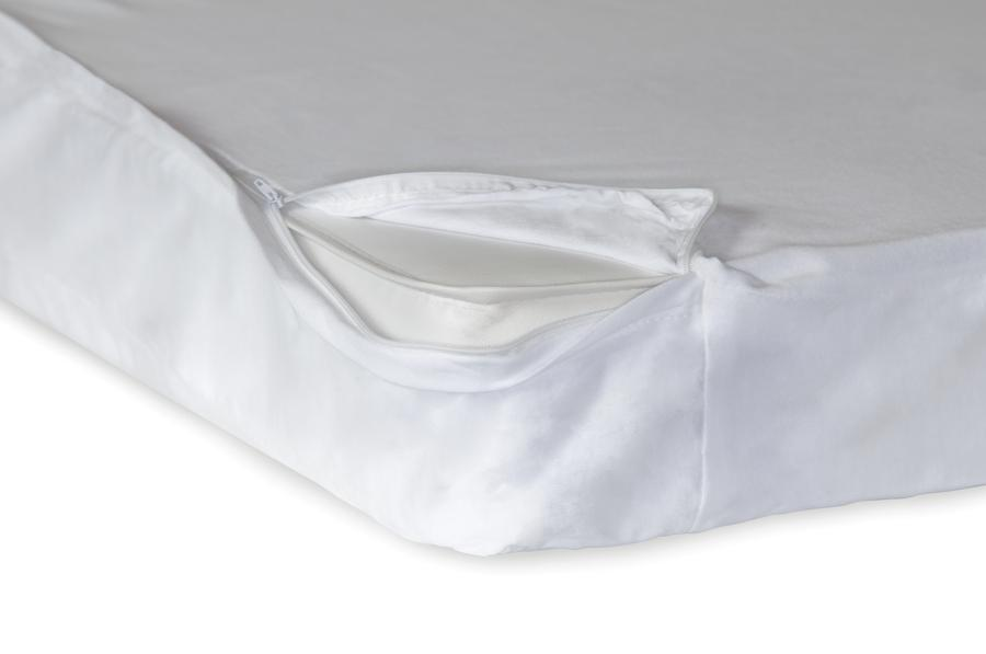 "SafeFit™ Zippered Full Enclosure Safety Sheets for Foundation's Compact Cribs With a 3""-4"" Mattress, White (6 Pack)"