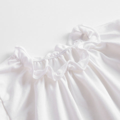 Image of Blouse Manche Courte Blanc