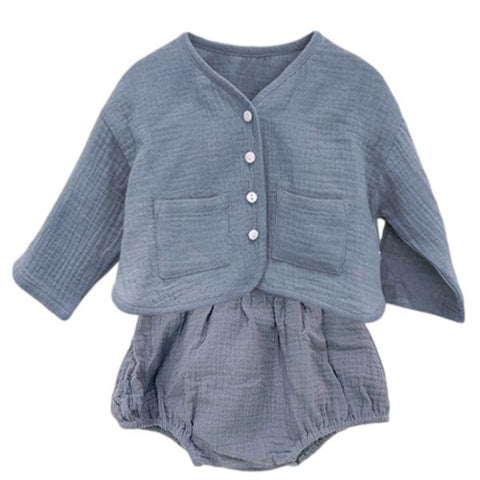 Image of Ensemble Gilet et Bloomer Sacha - Bleu