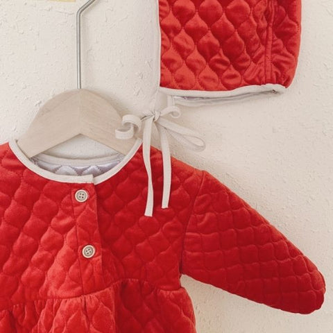 Barboteuse Manteau Gaby - Rouge