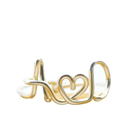 Image of Bague Fil Personnalisable Amour en Gold filled 14 carats