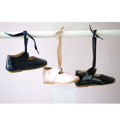 Image of Ballerines Noeud Bleu Marine