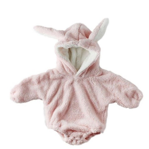 Barboteuse Manteau Lapin Rose