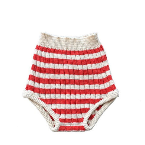 Bloomer Rayures en Tricot Rouge