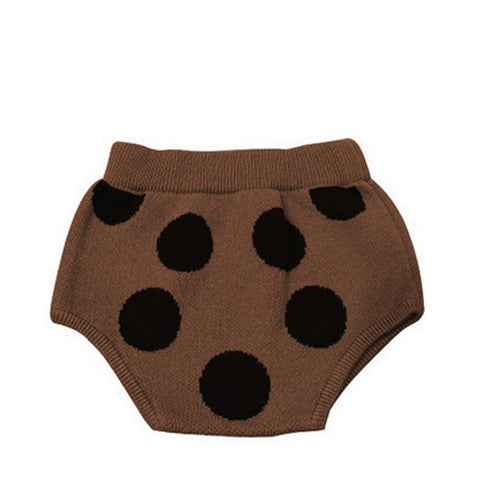 Bloomer à Pois en Tricot Marron