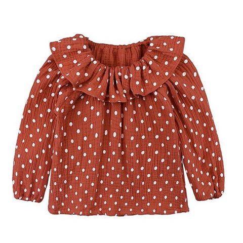 Blouse à Pois Marron