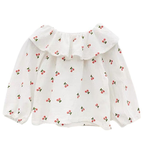 Image of Blouse Cerise Blanc