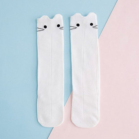 Chaussettes Chat Blanc