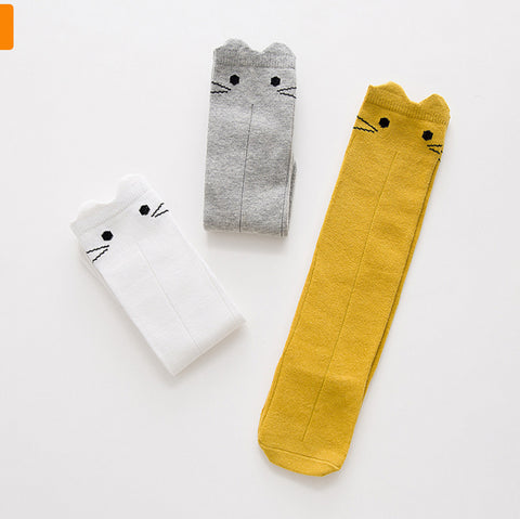 Image of Chaussettes Chat Blanc