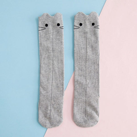 Image of Chaussettes Chat Gris