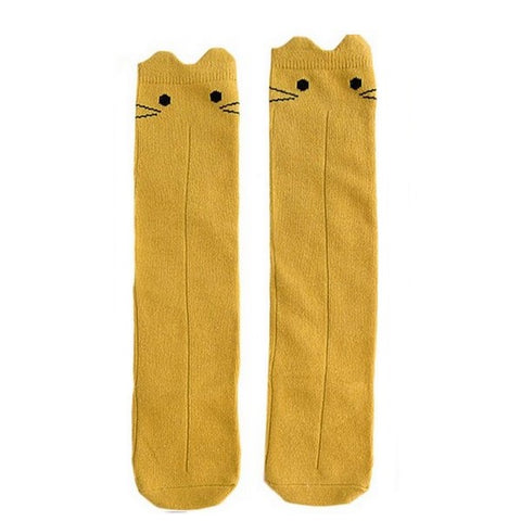 Image of Chaussettes Chat Jaune