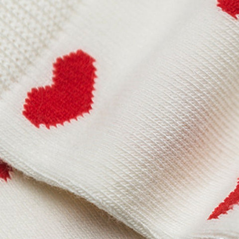 Image of Chaussettes Coeurs Blanc