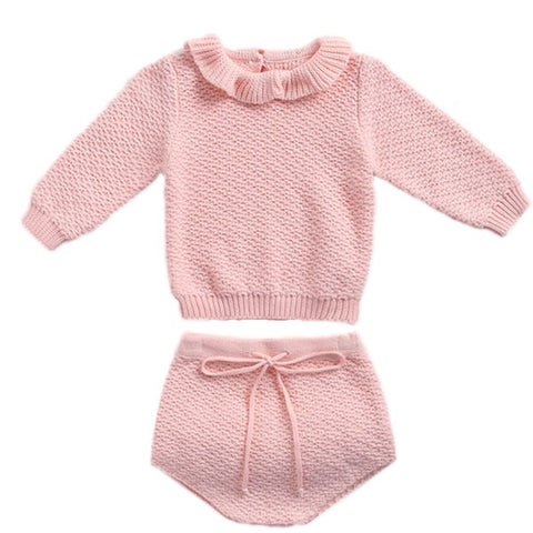 Pull et Bloomer en Tricot Rose