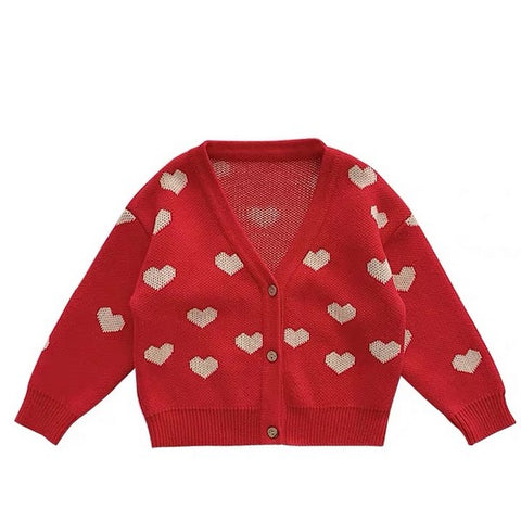 Image of Cardigan Coeurs Rouge