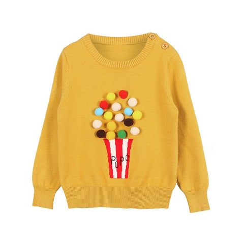 Pull Pop Corn Jaune -30%