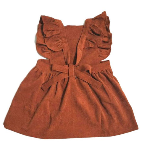 Robe en Velours Marron