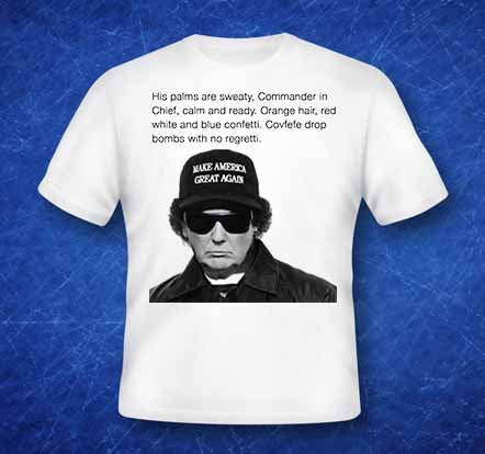 His Palms are Seaty Commander in Chief Calm and ready shirt