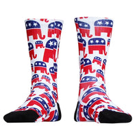 Elephant Republican Socks