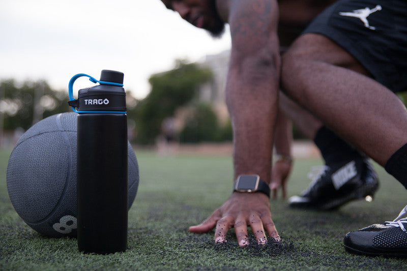 trago smart water bottle with iwatch and fitbit app