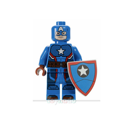 Marvel Comic Universe - Captain America (SDCC Style) Minifigure